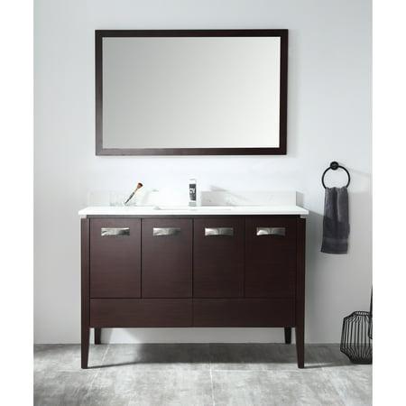 Chans Furniture 48 Quot Tennant Brand Adagio Espresso Bathroom
