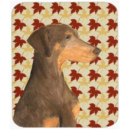 Doberman Fall Leaves Portrait Mouse Pad, Hot Pad Or Trivet - image 1 of 1