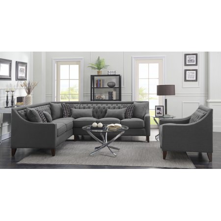 Chic Home Fulla Linen Tufted Back Rest Modern Contemporary Left