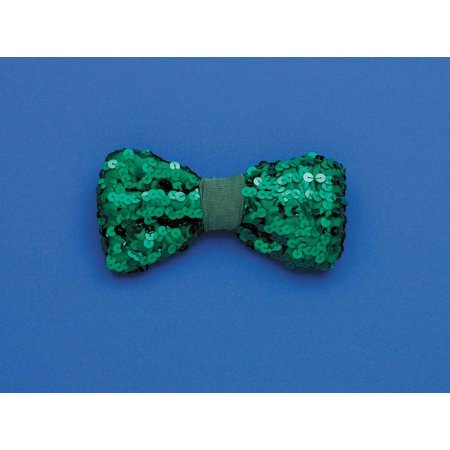 St. Patrick's Green Sequin Costume Bow Tie One Size for $<!---->