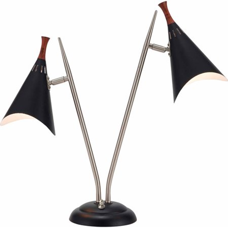 Adesso Draper Desk Lamp, Black by