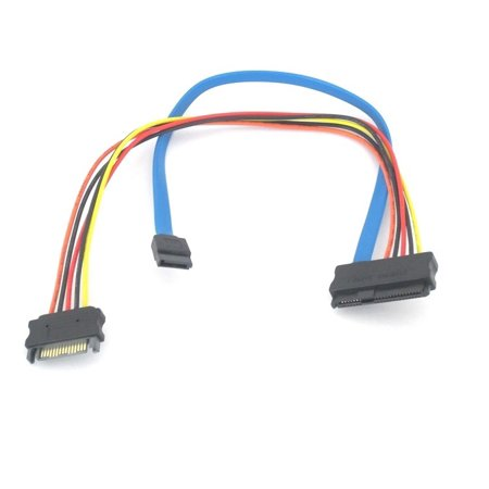 SAS 29pin Female to 15 Pin SATA Male with 7 Pin SATA 12 Inch Cable 12 Pin Connection Cable
