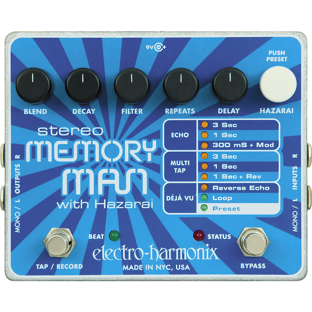 Electro-Harmonix Stereo Memory Man with Hazarai by
