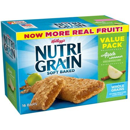 (6 Pack) Kellogg's Nutri-Grain Soft Baked Apple Cinnamon Breakfast Bars, 1.3 oz, 16 - Baked Apple Crumble
