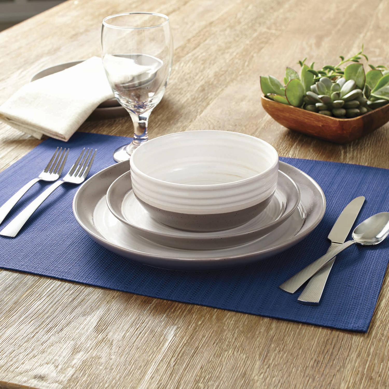 & Better Homes And Garden Ashmoor 12-Piece Dinnerware Set - Walmart.com