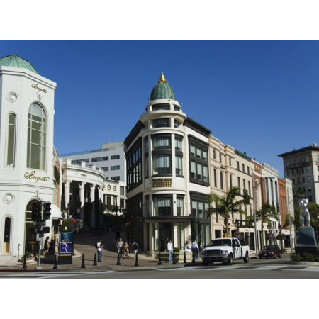 Designer Boutiques in Rodeo Drive, Beverly Hills, Los Angeles, California, USA Print Wall Art By Kober Christian (Beverly Drive In)