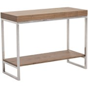 Abbyson Living Vienna Solid Wood/Metal Console Table, Walnut