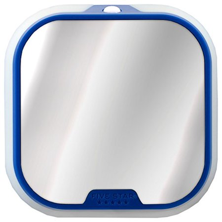 Five Star Locker Mirror and Locker Light, Locker Accessories, Blue, 4.5 in. x 4.5 in. x .88 in. (Magnetic Locker Mirror)