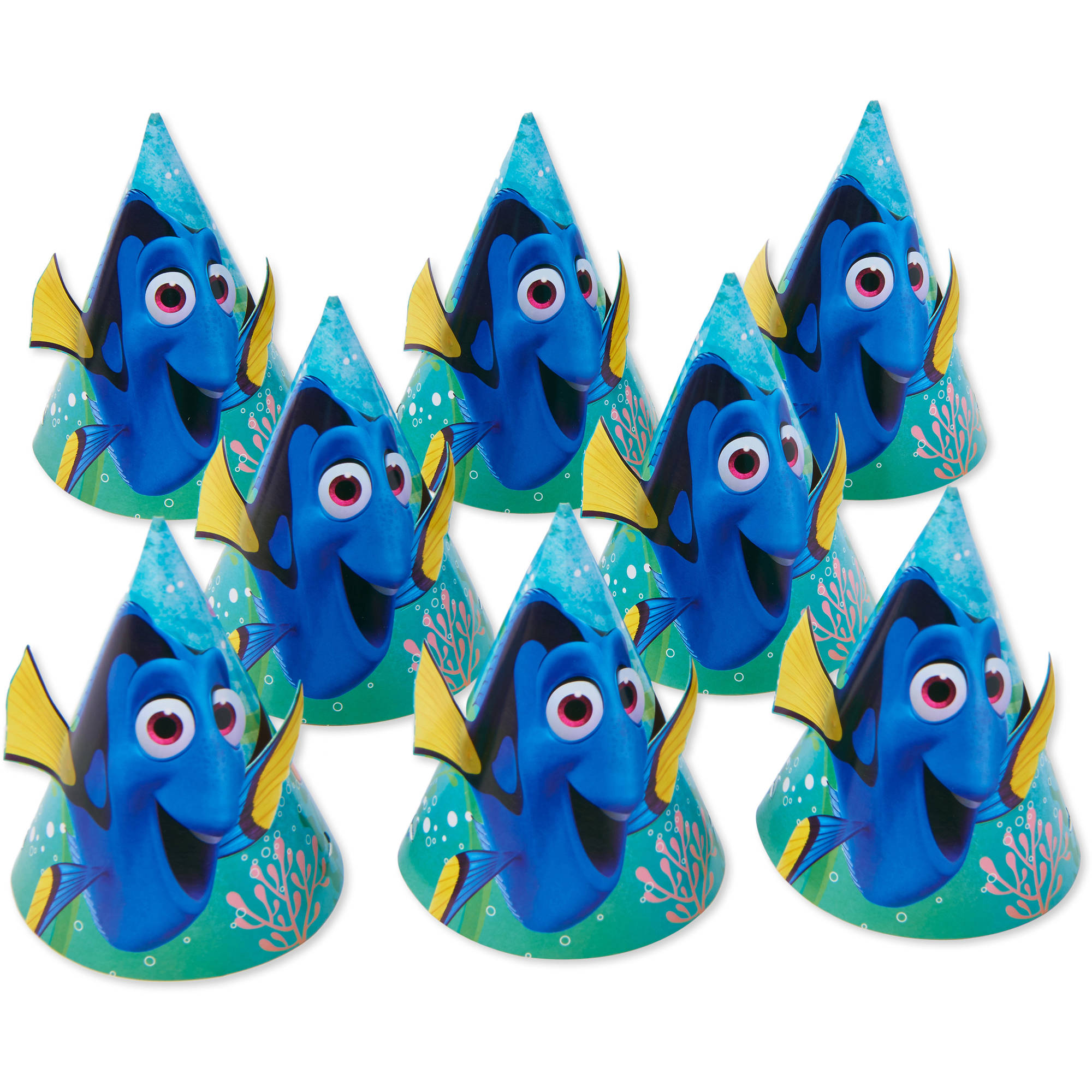 Finding Dory Paper Party Hats 8ct