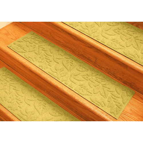 Bungalow Flooring Aqua Shield Yellow Fall Day Stair Tread (Set of 4)