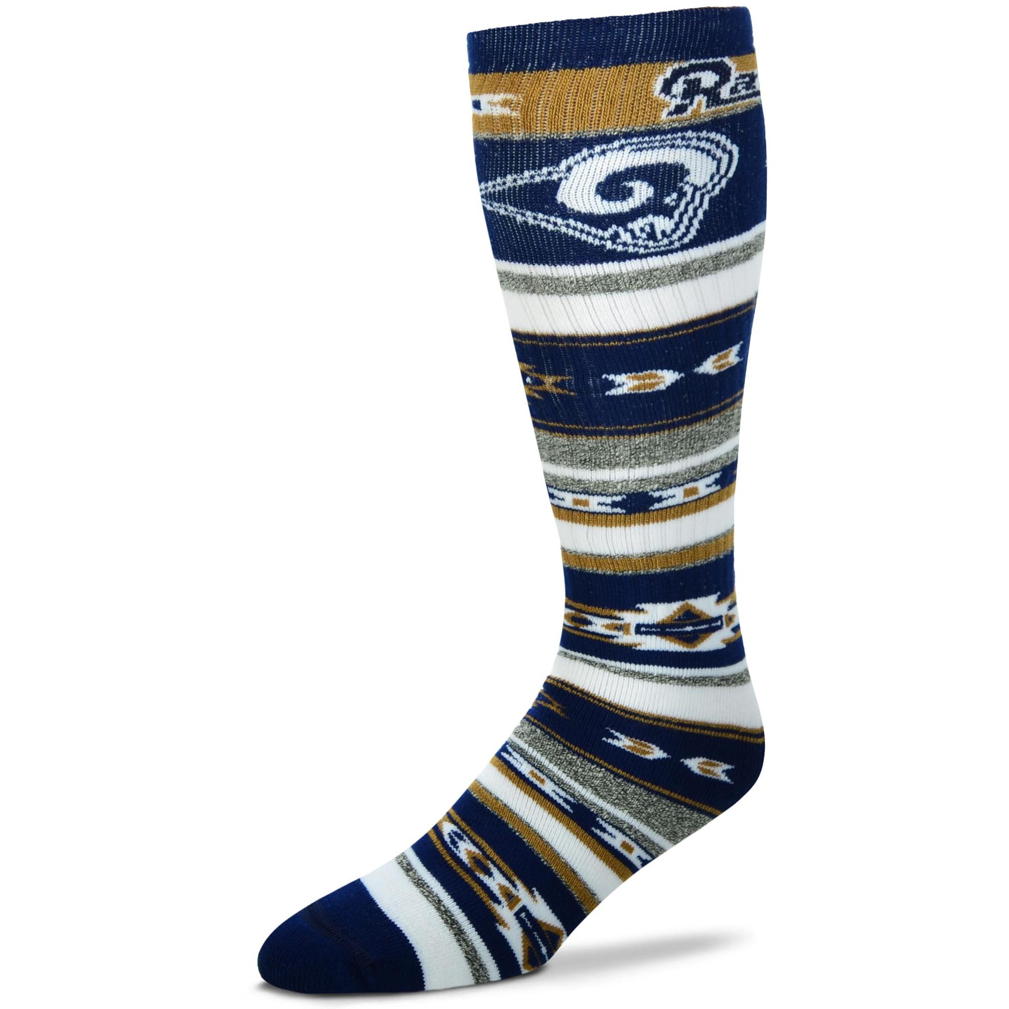 Los Angeles Rams For Bare Feet Women's Tailgater Crew Sock - M