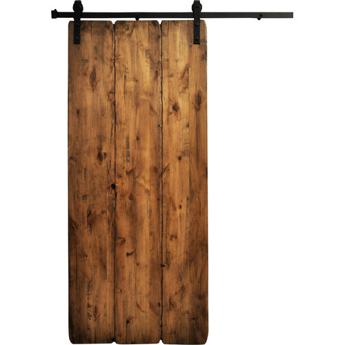 Dogberry Collections Tuscan Wood 1 Panel Interior Barn Door