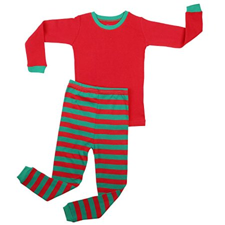 426abcda3 Elowel Pajamas - Elowel Boys Girls Christmas Striped 2 Piece Kids ...