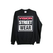 Mens Logo Fleece Crew Pullover Sweatshirt