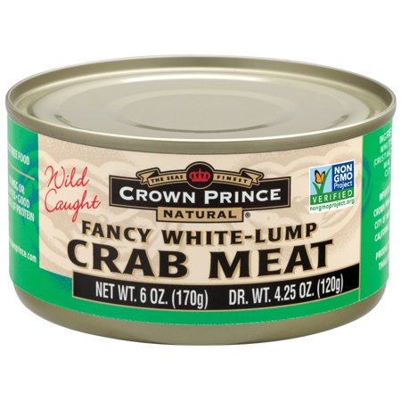 Crown Prince Natural, Fancy White-Lump Crab Meat, 6 oz (pack of 1)