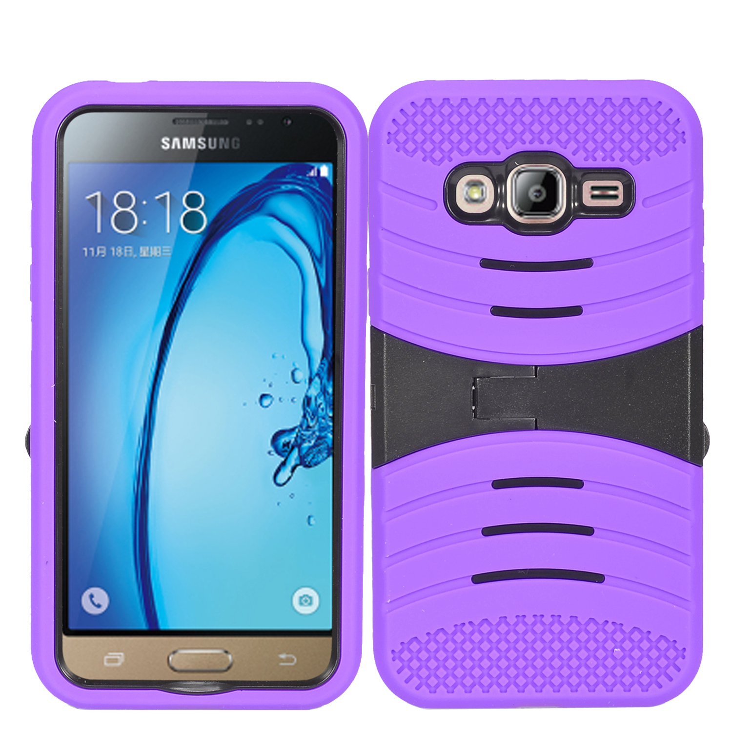 Zizo UCASE for Samsung Galaxy On5 G550 Hybrid Dual Layer w/ Silicon Rugged Shell Protective Phone Case Cover w/ Kickstand