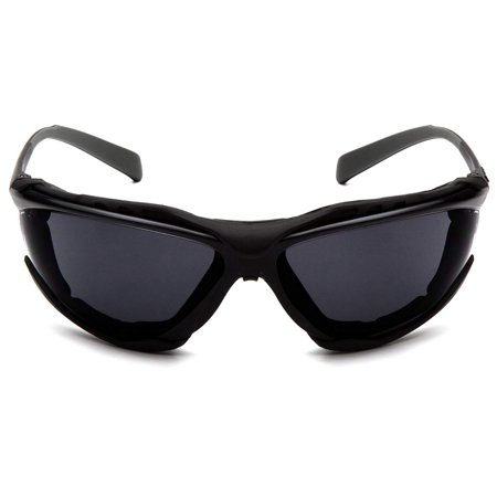 Safety Proximity Safety Glasses SB9323ST, Dark Gray H2X Anti-Fog Lens, 9.5 base curve lens provides excellent side protection By Pyramex