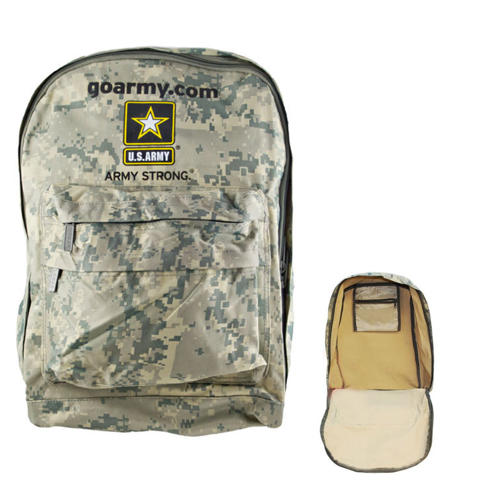 Army Backpack US Military Go Strong Hiking Travel Bag ACU Camo Camping Light New