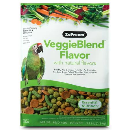 ZuPreem Veggieblend Medium & Large Parrot Food, 3.25 lb. Large Bird Treat