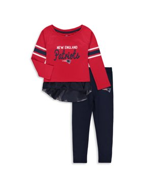 36daee209 Product Image New England Patriots Girls Toddler Mini Formation Set - Red