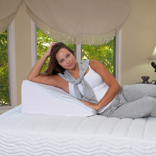 "7"" Bed Wedge Pillow w/Cover, Multi-use support pillow made with high-density, breathable foam By Rose From USA"