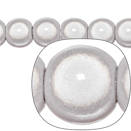 Miracle Beads, 27mm Large Hole(Pandora Size) Round, Grey Sold per pkg of 27cnt/20g pack