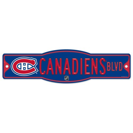 Montreal Canadiens Official Nhl 4 Inch X 17 Inch  Plastic Street Sign By Wincraft