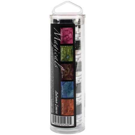 Lindy's Stamp Gang Magical Set .25 oz Jars, 5/Pkg, Autumn (Stamping Leaf)