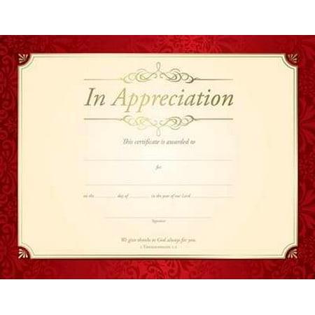 Certificate appreciation in appreciation gold foil embossed certificate appreciation in appreciation gold foil embossed premium stock pack of 6 yadclub Choice Image