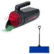 Earthway Handheld Earthshaker & Pro 36-Inch Handle Snow Shovel with Wide Blade