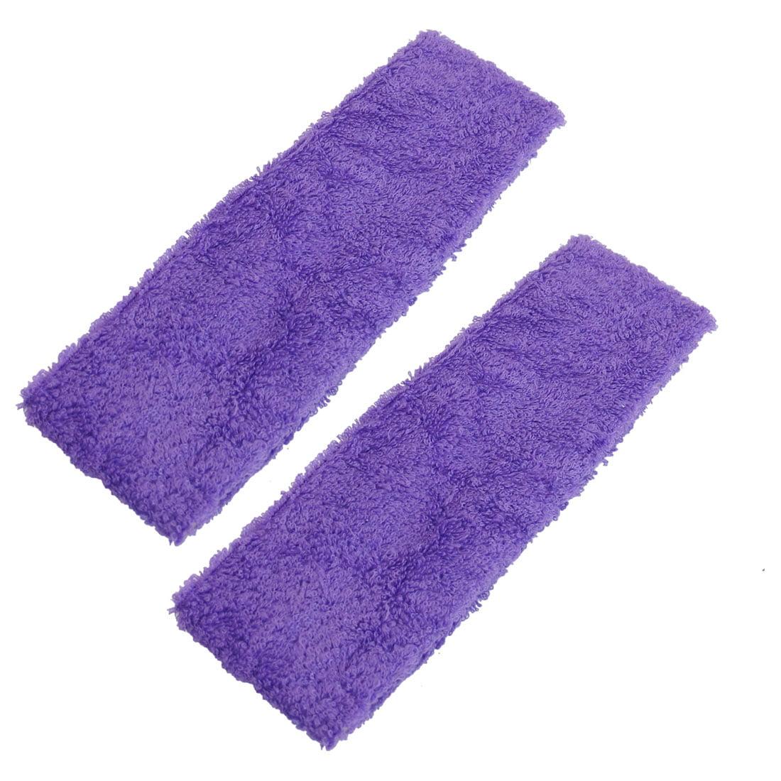 Unique BargainsWomen Bathing Face Washing Elastic Scarf Hair Band Purple 2 Pcs