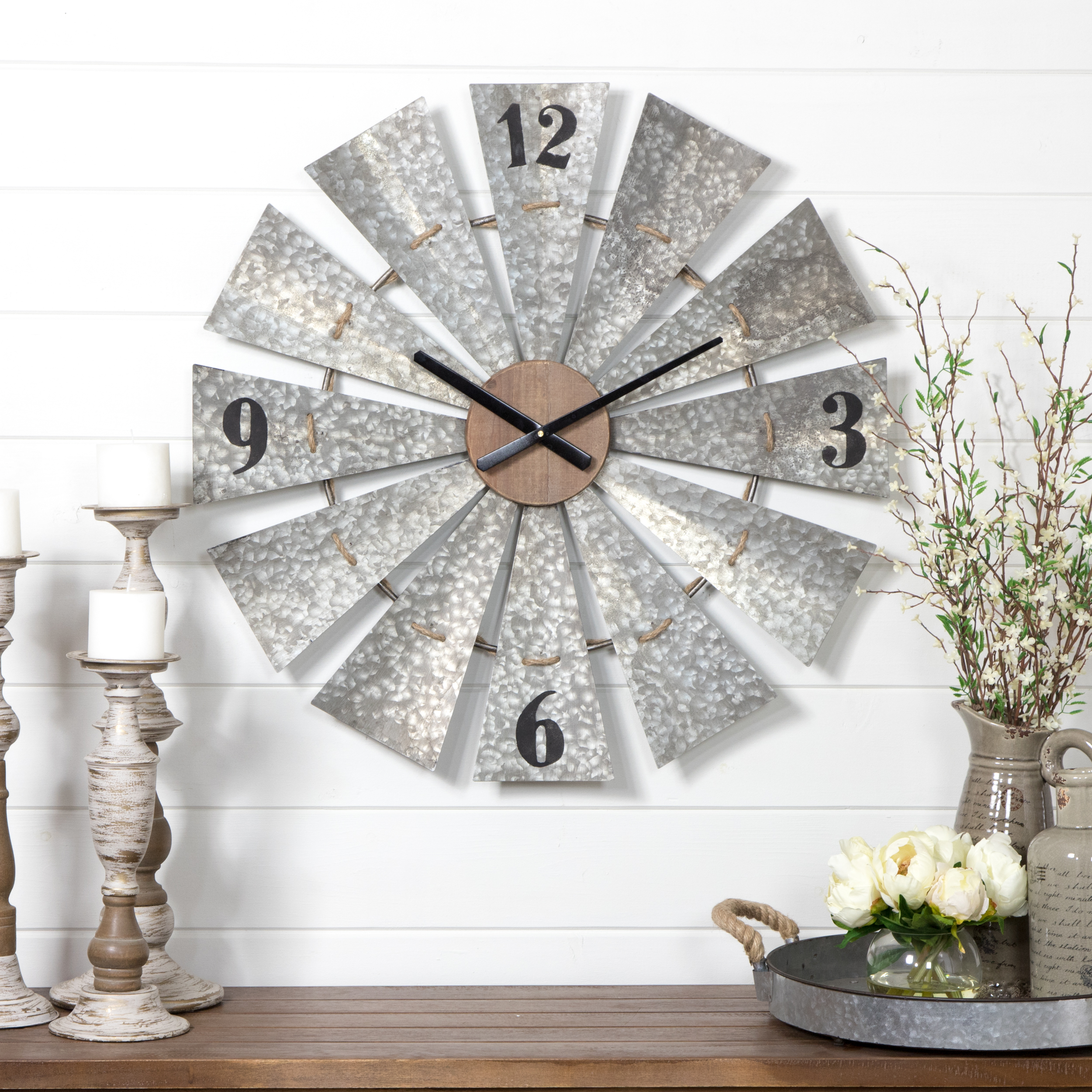 Marcel Windmill Wall Clock