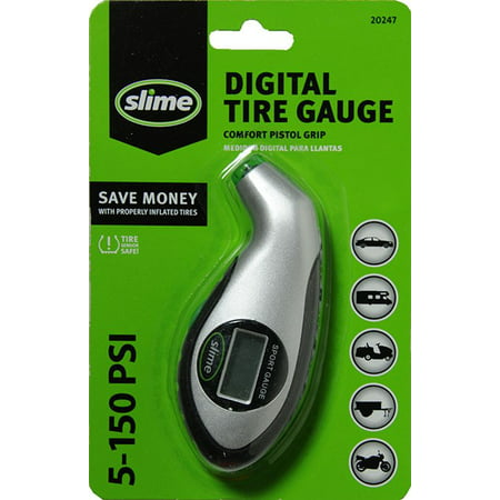 Slime Digital Tire Pressure Gauge with Lighted Tip 5-150 PSI - (The Best Tire Pressure Gauge)