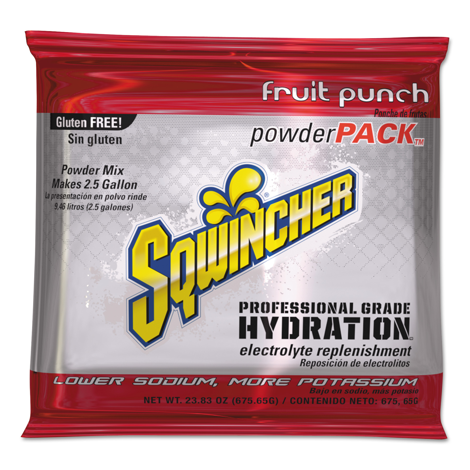 Sqwincher Drink Mix, Fruit Punch, 23.83 Oz, 32 count