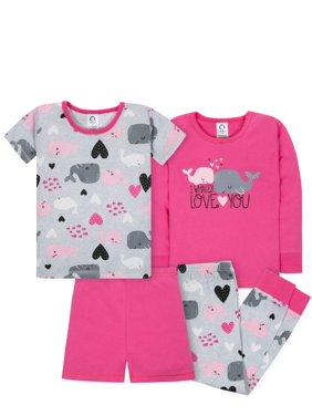 c778bc04cbb3 Product Image Gerber Mix n match tight-fit cotton pajamas, 4pc set (baby  girls &