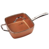 "Copper Chef 9.5"" Deep Square Pan Holds 4.5 Quarts"