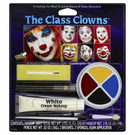 Fun World The Colorful Class Clowns Multicolor 8pc Makeup Kit](Halloween Makeup Clown Faces)