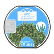 Holiday Time LED Micro Light set, Multicolored, 400 count