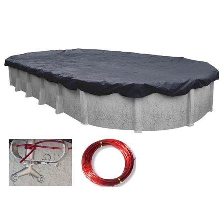 Oval Enviro Mesh (HPI 18-Foot-by-38-Foot Oval Enviro Mesh Above Ground Swimming Pool Winter Cover - 8-YR Warranty)