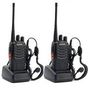 Ktaxon 2PCS Baofeng BF-888S UHF 400-470Mhz Walkie Talkie Radio + Gift Portable Earphone