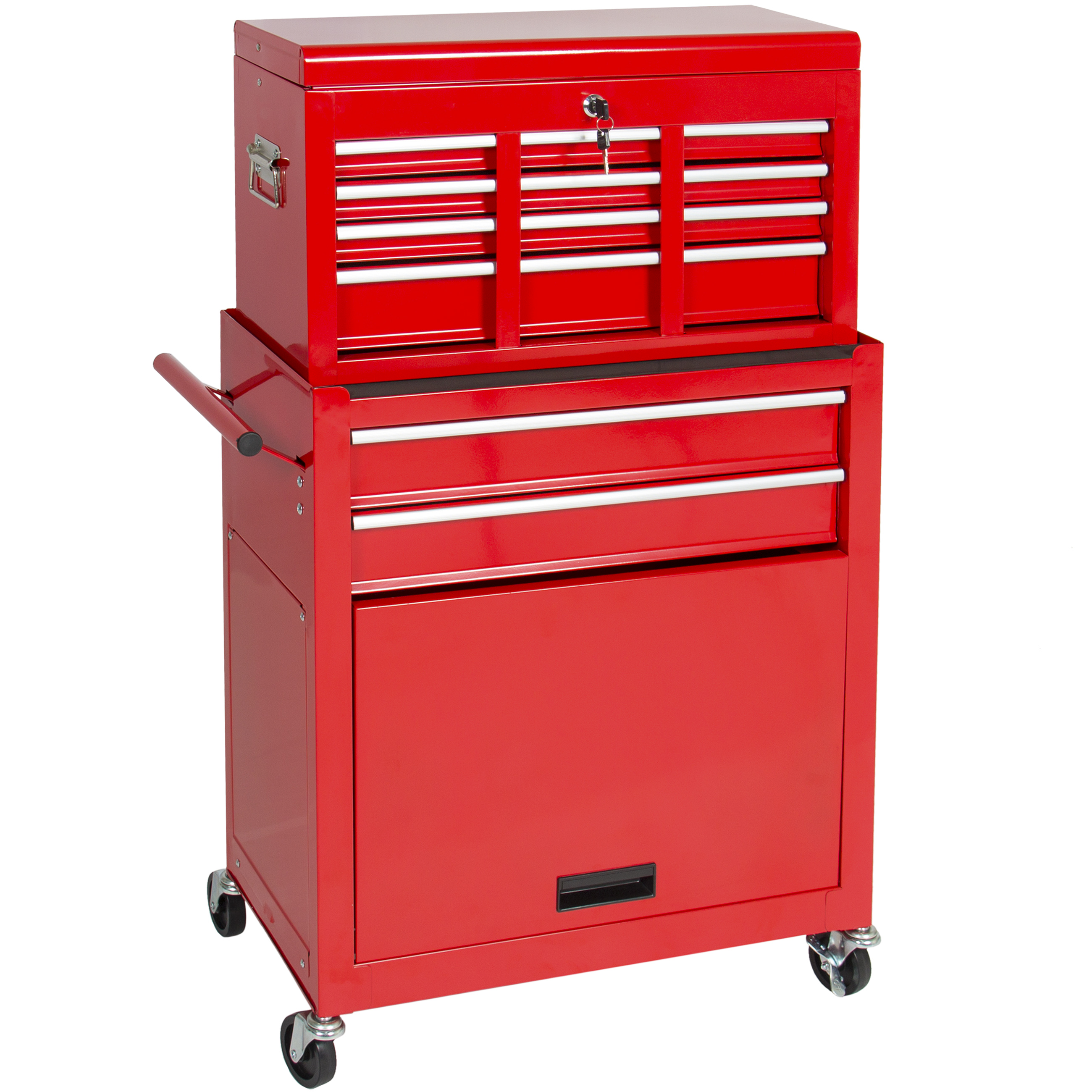 best choice products portable top chest rolling tool storage box cabinet sliding drawers walmartcom