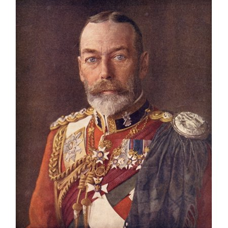 George V 1865 To 1936 King Of England And Emperor Of India From The Life Of King George V Published C 1935 Canvas Art - Ken Welsh  Design Pics (26 x (George V King Coin Price In India)