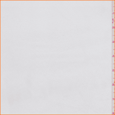 White Charmeuse, Fabric Sold By the Yard