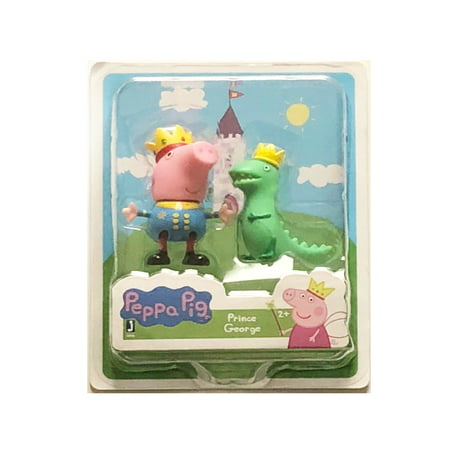 Peppa Pig Friends and Fun Prince George and Mr. Dinosaur Wearing Royal Crowns Fun Toy (Peppa Pig Mr Bull Digging Up The Road)