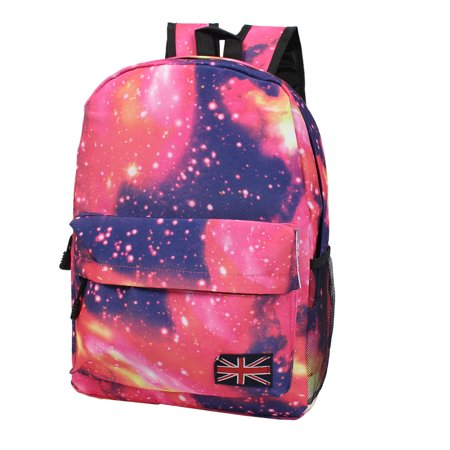 New Galaxy Space Backpack Rucksack Canvas Bag School Bookbag Satchel