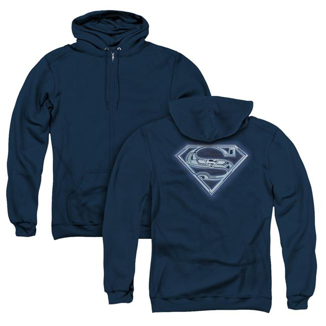 Cyber Shield Adult Crewneck Sweatshirt Superman