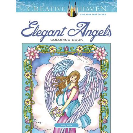 Creative Haven Elegant Angels Coloring Book - Angel Coloring Page