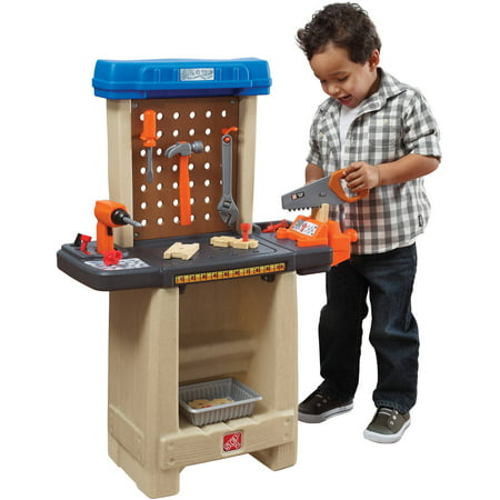 Step2 Handy Helper's Workbench with Kids Pretend Play Tool Set