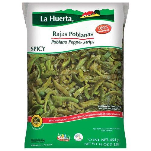 La Huerta: Spicy Strips Poblano Peppers, 16 Oz