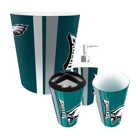 Philadelphia eagles nfl complete bathroom accessories 4pc for Entire bathroom sets